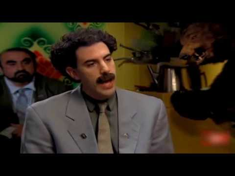 Borat interviewed by Becky Anderson from CNN