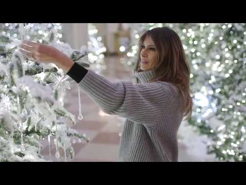 2017 USA First Lady Melania Trump prepares White House for CHRISTmas & 2018 New Year