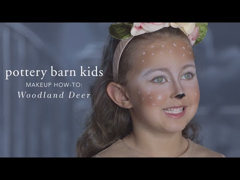 Easy Halloween Makeup Tutorial - Deer Tutu Costume for Pottery Barn Kids
