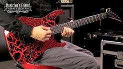 Charvel Custom Select Dinky Electric Guitar, Black Red Crackle