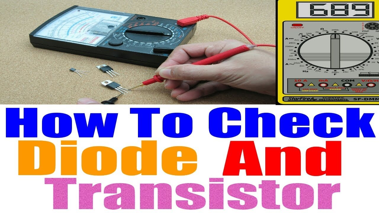 How To Check Transistor And Diode By Multimetre In Hindi Youtube Moisture Activated Relay Bipolar