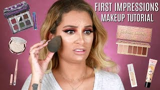 FIRST IMPRESSIONS MAKEUP TUTORIAL | DRUGSTORE & HIGH END