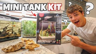 SETTING UP *NEW* mini NANO AQUARIUM KIT!!