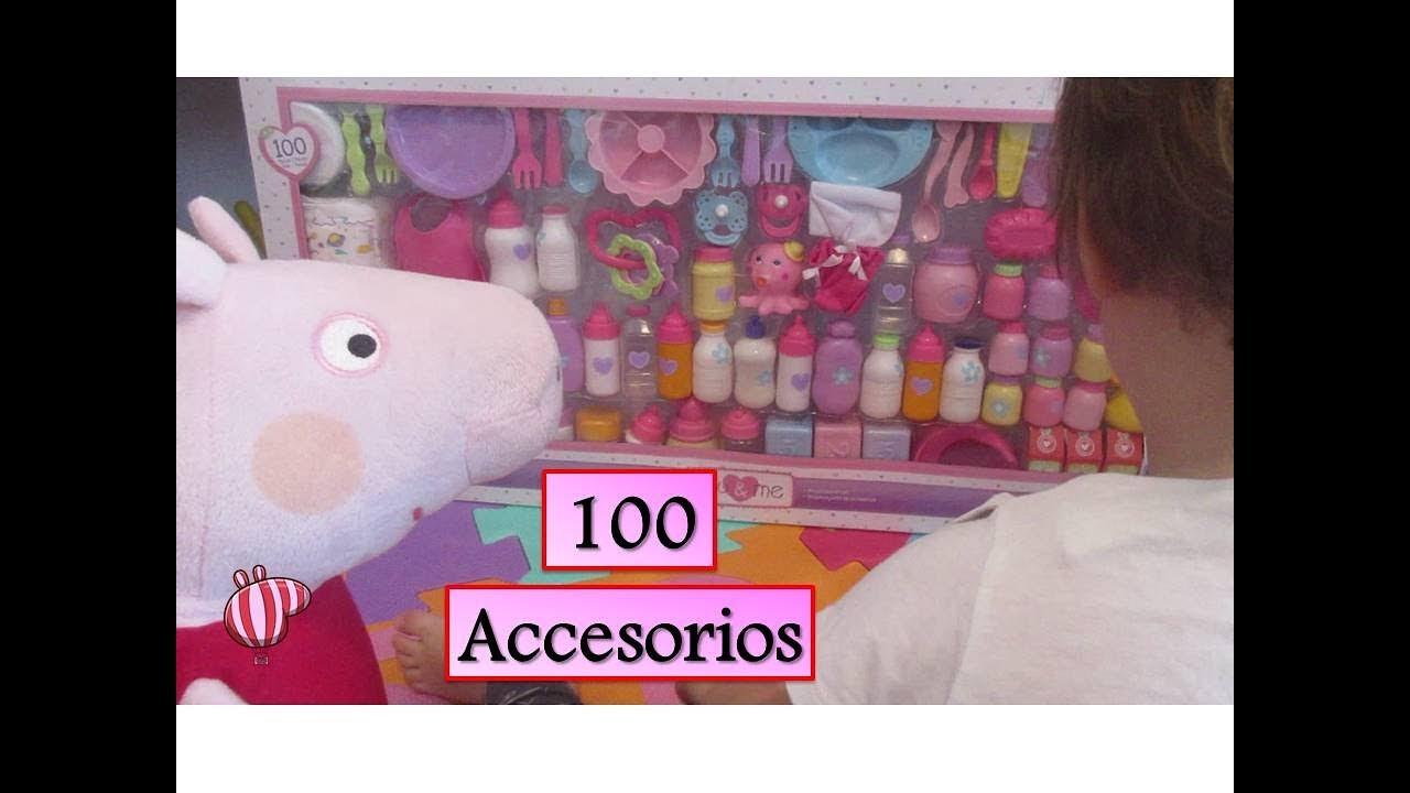 Peppa Pig y Beb Humano set gigante 100 accesorios de juguetes