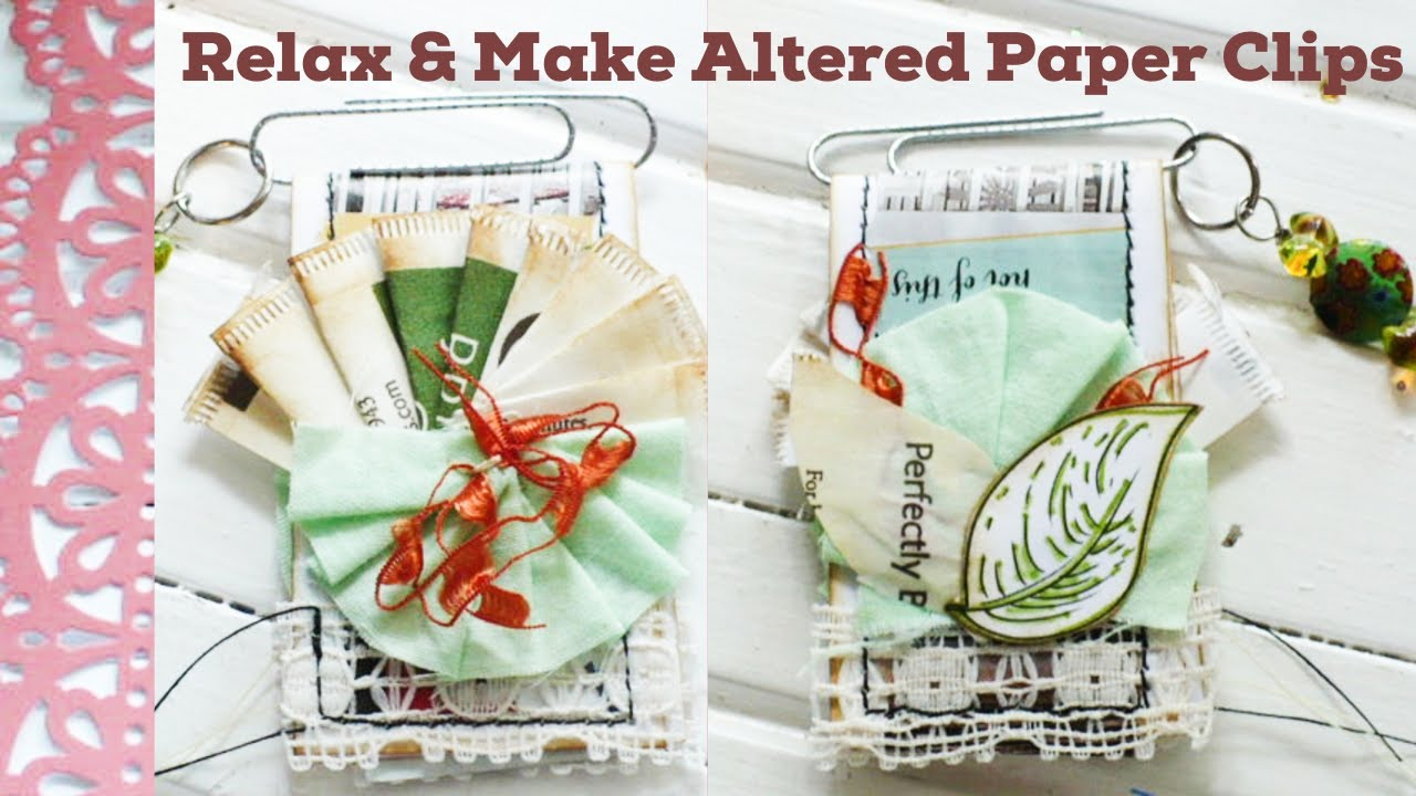 Altered Paper Clip Challenge - Junk Journal Embellishments -  #mosalteredpaperclips1