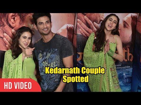 Kedarnath Couple Sara Ali Khan and Sushant Singh Rajput Spotted at Mehboob Studio