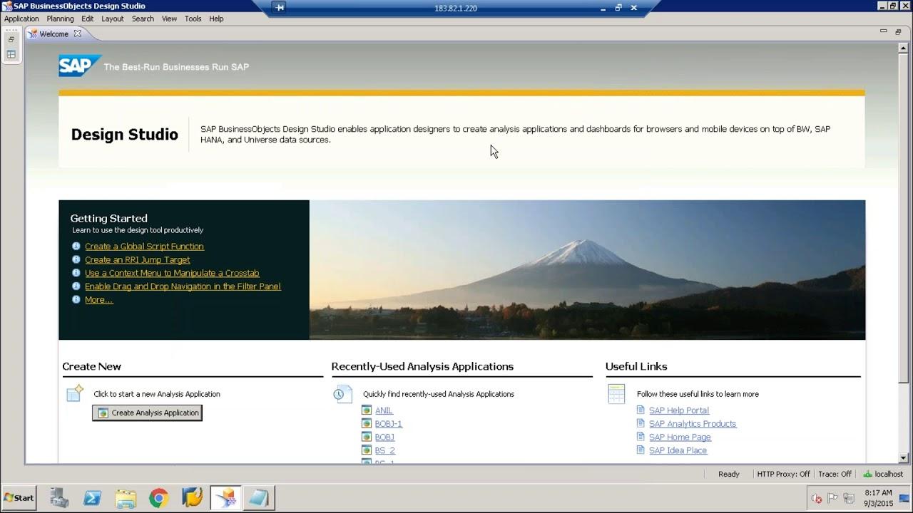 SAP Design Studio Reporting Tool Tutorial for beginners