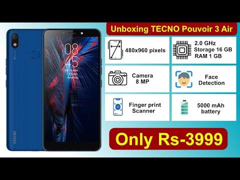 TECNO Pouvoir 3 Air unboxing || best cheap android phone