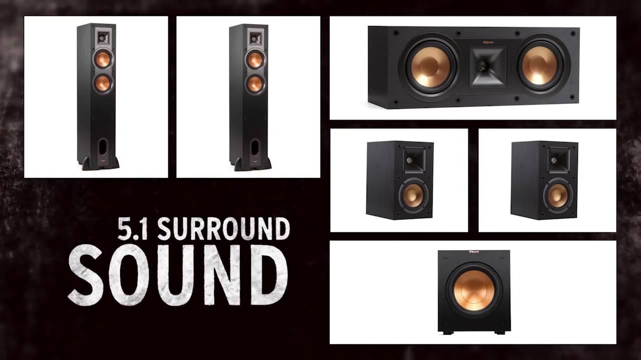 klipsch 5 1 surround sound system. klipsch reference speakers: what\u0027s 5.1 sound? 5 1 surround sound system