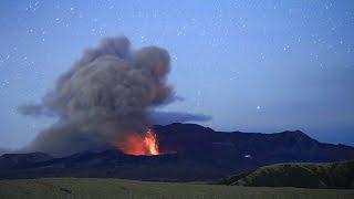 阿蘇山《中岳第一火口》ストロンボリ式噴火(インターバル撮影)