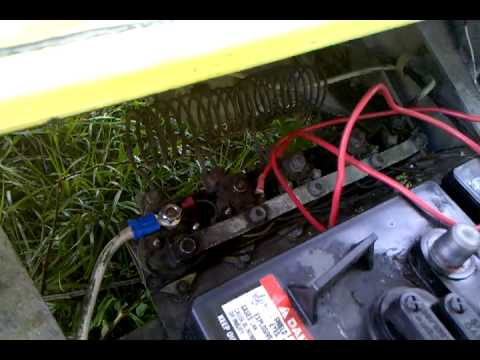 Golf Cart Solenoid Wiring Diagram 2000 Chevy Blazer Starter Problem Just Clicking 1987 Club Car - Youtube