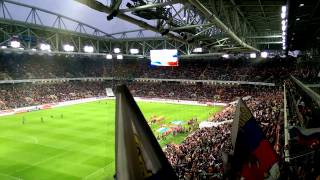 Гимн России на матче Россия-Швеция. Russian anthem