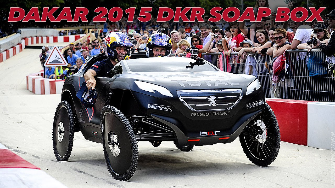 Amazing Red Bull Race Soap Box Peugeot 2008 Dkr Dakar 2015 Youtube