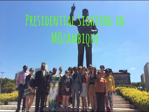 PRESIDENTIAL SIGHTING IN MOZAMBIQUE