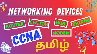 Network Devices in Tamil Explained || Switch, Bridge, Hub, Router, Modem || CCNA Tamil