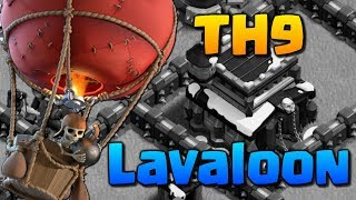 TH9 PRO LAVALOON ATTACKS - Clash of Clans Town Hall 9 Attack Strategy! 3 Star CoC War Raids 2018