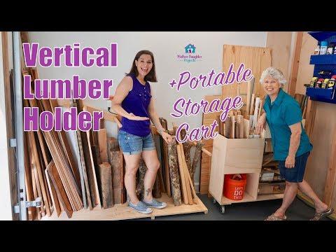 Vertical Lumber + Portable Scrap Wood Organizer