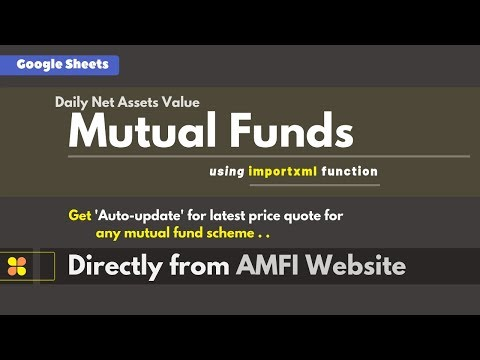 Auto-update Mutual Funds 'Latest NAVs' Directly From AMFI Website