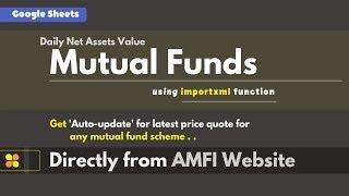 Auto-update Mutual Funds 'Latest NAVs' directly from AMFI website screenshot 4