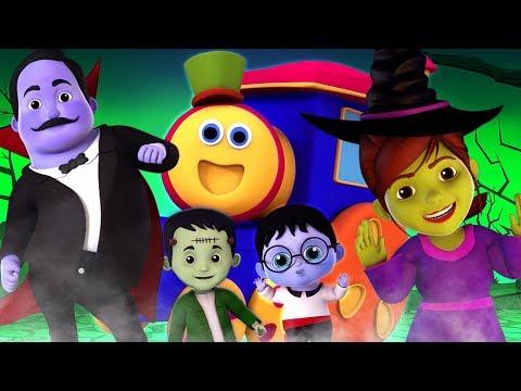 Bob o trem   Ha Ha dia das bruxas   dia das bruxas canção   Ha Ha Halloween   Kids Tv Português