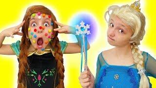 Sister Princesses Anna and Elsa have got a PROBLEM!! Super Elsa