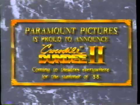 Crocodile Dundee Ii 1988 Teaser Vhs Capture Youtube