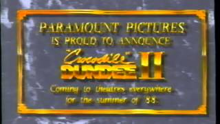 Crocodile Dundee II (1988) Teaser (VHS Capture)