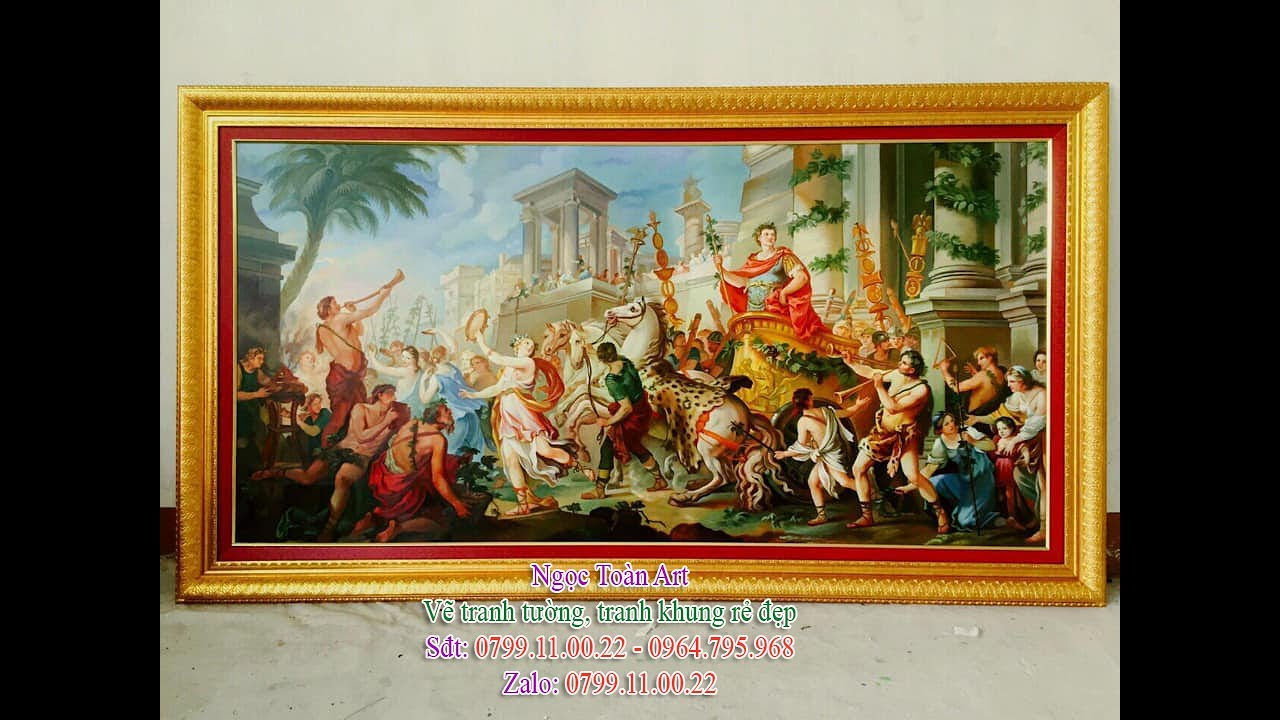 Vẽ tranh khung treo tường – Vẽ tranh theo yêu cầu tại Hà Nội