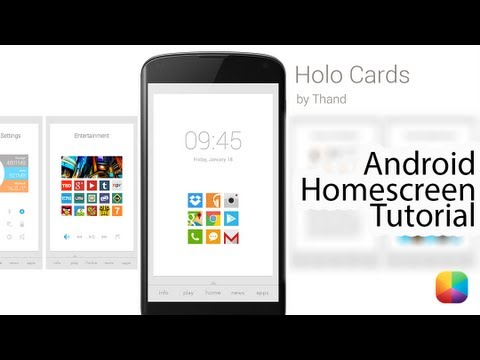 """Holo Cards (by Brian """"Thand"""" Roberts) - Android Homescreen Tutorial"""