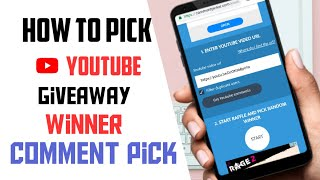 How to pick winner of  youtube giveaway | youtube random comment picker