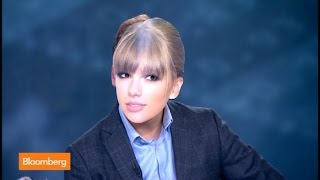 Taylor Swift Pays a Visit to Bloomberg Surveillance