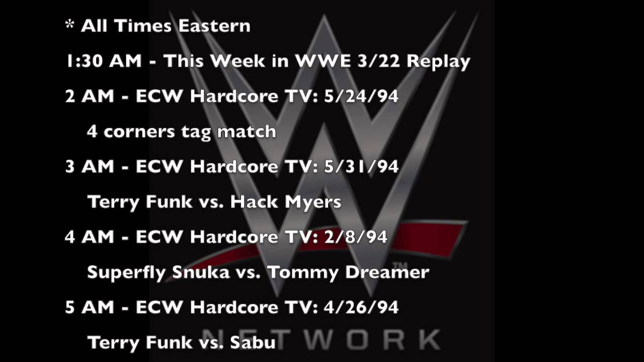 Very valuable ecw hardcore tv listings share