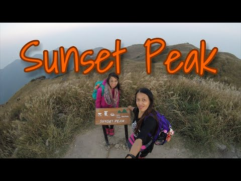 Sunset at Sunset Peak/Lantau Trail Section 1&2-Oct.28,2017