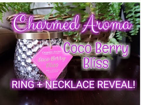 Charmed Aroma COCO BERRY BLISS Candle - RING & NECKLACE  REVEAL!