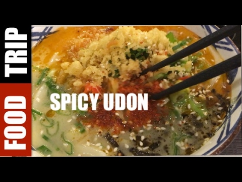 Food Trip : spicy udon and tempura at marugame