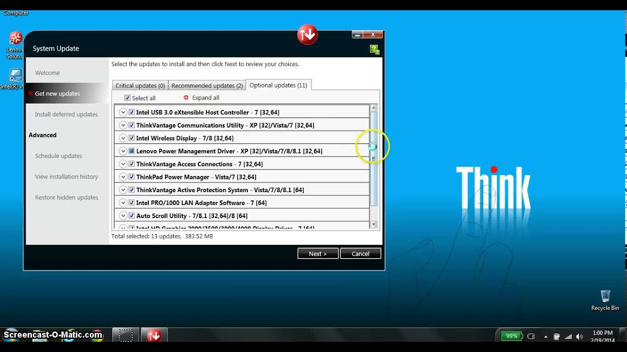 Luservice lenovo updates service 32 bit