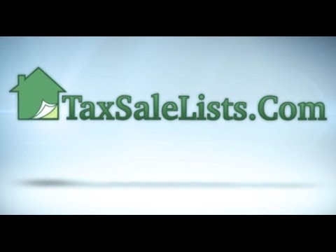Tax Sale Lists for Tax Lien and Deed Investors