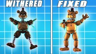 Fixed Vs Withered Ignited Joy Of Creation Animatronics