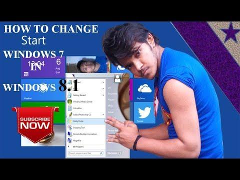 Windows 7 Ko Windows 8.1 Me Change Kare In 5 Minutes