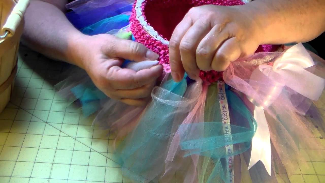 How to make a tutu easter basket youtube how to make a tutu easter basket negle Image collections