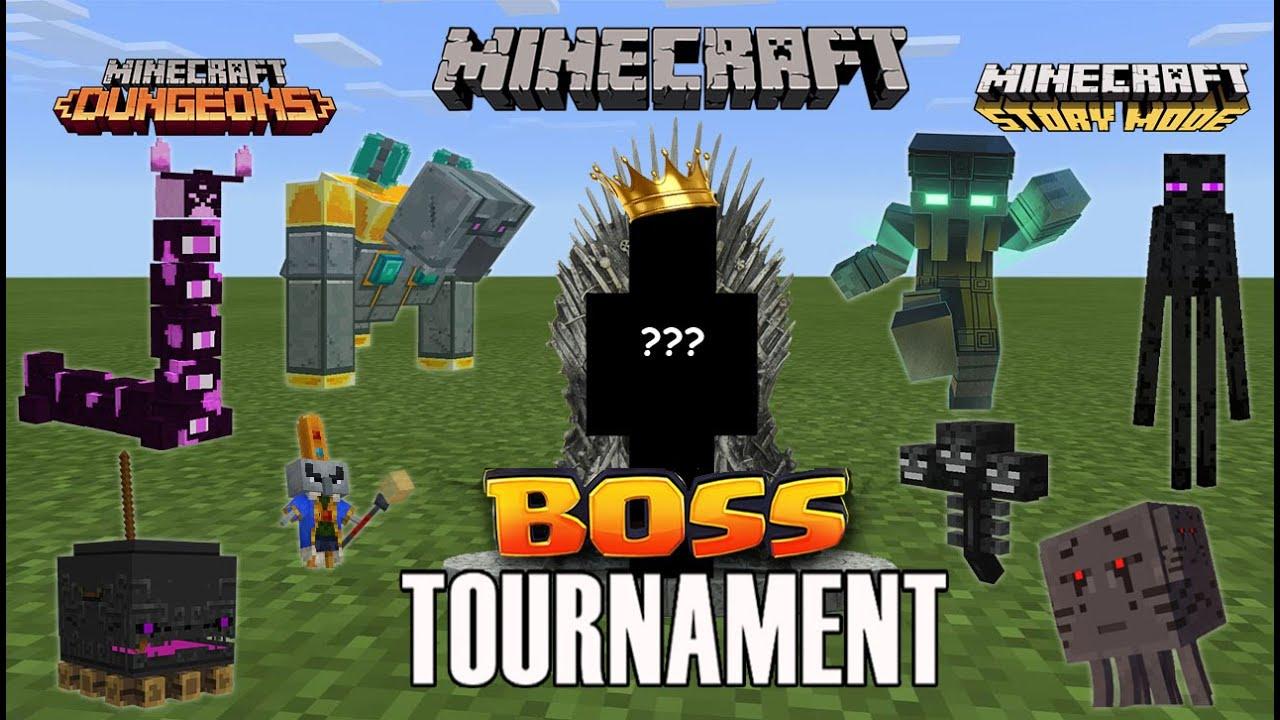 Download Minecraft BOSSES Tournament (Minecraft, Minecraft Dungeons, Minecraft Story Mode) Echoing Void