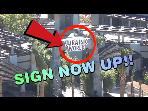 HUGE Jurassic World and Universal Studios Hollywood Construction Update!