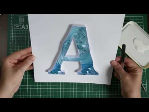 Quilling Letter A - Paper Typography