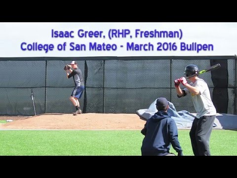 Isaac Greer Bullpen at College of San Mateo March 2016
