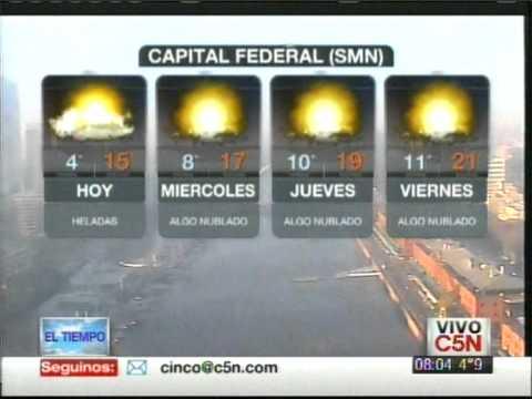 C5N - EL TIEMPO: PRONÓSTICO EXTENDIDO 28/08/2012