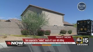 Teen suspected in violent death of Valley 3-year-old