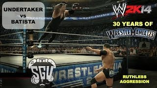 WWE 2K14: 30 Years of Wrestlemania (EP30) - Undertaker vs Batista (Wrestlemania 23)