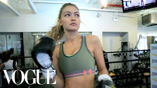 Gigi Hadid's Body-Sculpting Boxing Workout | Vogue