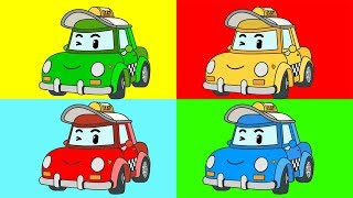 Мультик - Раскраска - Робокар Поли - Учим цвета. Часть 2. Robocar Poli - Learn Colors