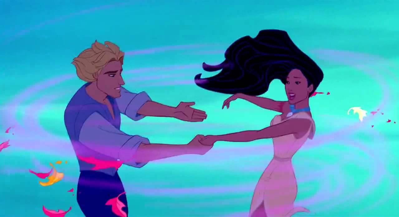 Disney Pocahontas And John Smith Kiss